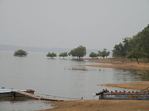 Pench Tiger Reserve - Flooding from the Pench Dam
