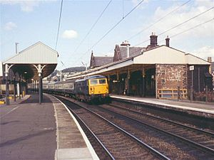 Penrith railway station - Penrith railway station in 1974