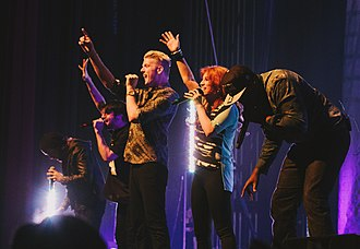Pentatonix - Pentatonix performing in St. Louis, Missouri in 2013.