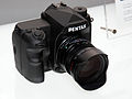 Pentax full-frame DSLR mock-up front 2015 CP+.jpg