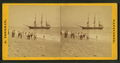 People on the shore looking at a ship, by Freeman, J. (Josiah) 3.png