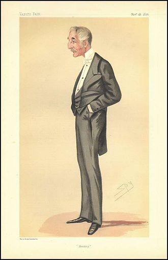Sir Henry de Bathe, 4th Baronet - Sir Henry Percival de Bathe, by Spy, published in Vanity Fair, 18 November 1876
