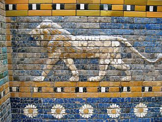 Ishtar - Depiction of a lion, one of Ishtar's main symbols, from the Ishtar Gate