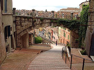 Amanda Knox: Murder on Trial in Italy - View of hillside steps in Perugia