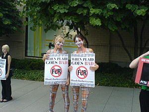 PETA protestors in body-paint