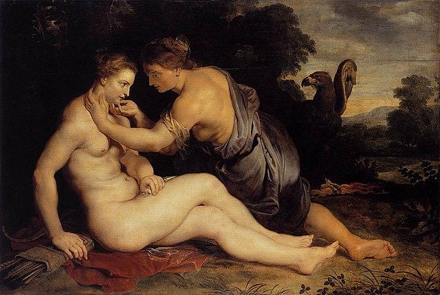 Юпитер и Каллисто. Около 1613 года, холст, масло. 306 × 202 см. Музеи Касселя