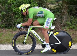 Peter Sagan - Sagan at the 2012 Tour de France. Sagan won the points classification, winning three stages during the race.