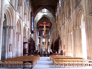 Dean of Peterborough - The nave of Peterborough Cathedral