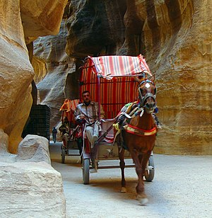 Cart - Tourist carts in Petra Siq (Jordan)