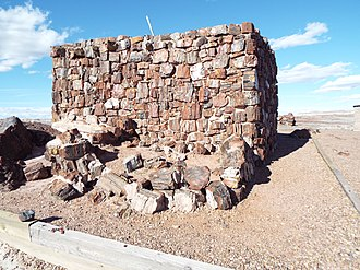 Agate House Pueblo - Image: Petrified Forest National Park Agate House 900 3