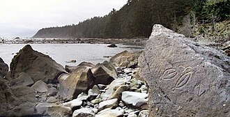 Cape Alava - Petroglyphs at Wedding Rocks, approximately 1 km south of Cape Alava, Olympic NP
