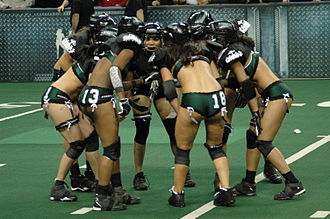 Philadelphia Passion - Members of the Passion huddle during a game in 2009