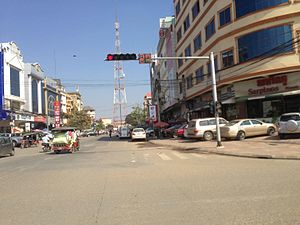 Toul Kok TVK BRT station - Image: Phnom Penh BRT KTV station