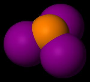 Phosphorus triiodide - Image: Phosphorus triiodide 3D vd W