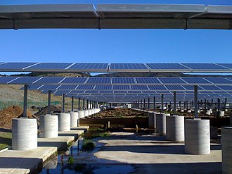 Photovoltaic mounting system - Solar panel mounting system on roof of Pacifica wastewater treatment plant