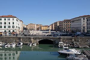 Piazza della Repubblica dalla Fortezza Nuova (Livorno)