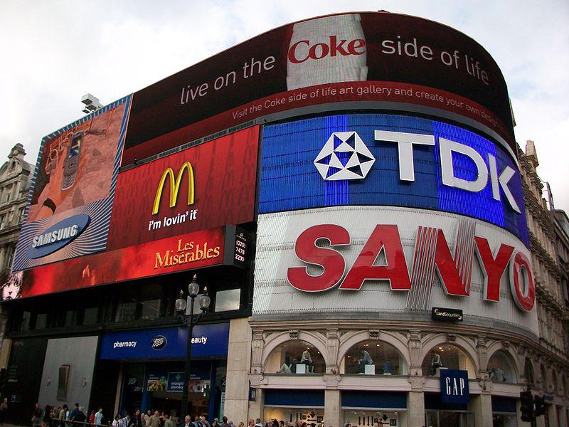 największe reklamy w Londynie