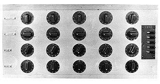 Colossus computer - Colossus 'set total' switch panel
