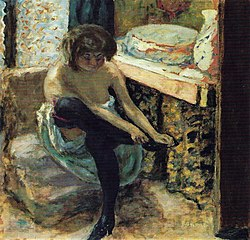 Woman with Black Stockings