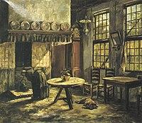 Piet Mondriaan - Boereninterieur met haard in de Achterhoek - A13 - Piet Mondrian, catalogue raisonné.jpg