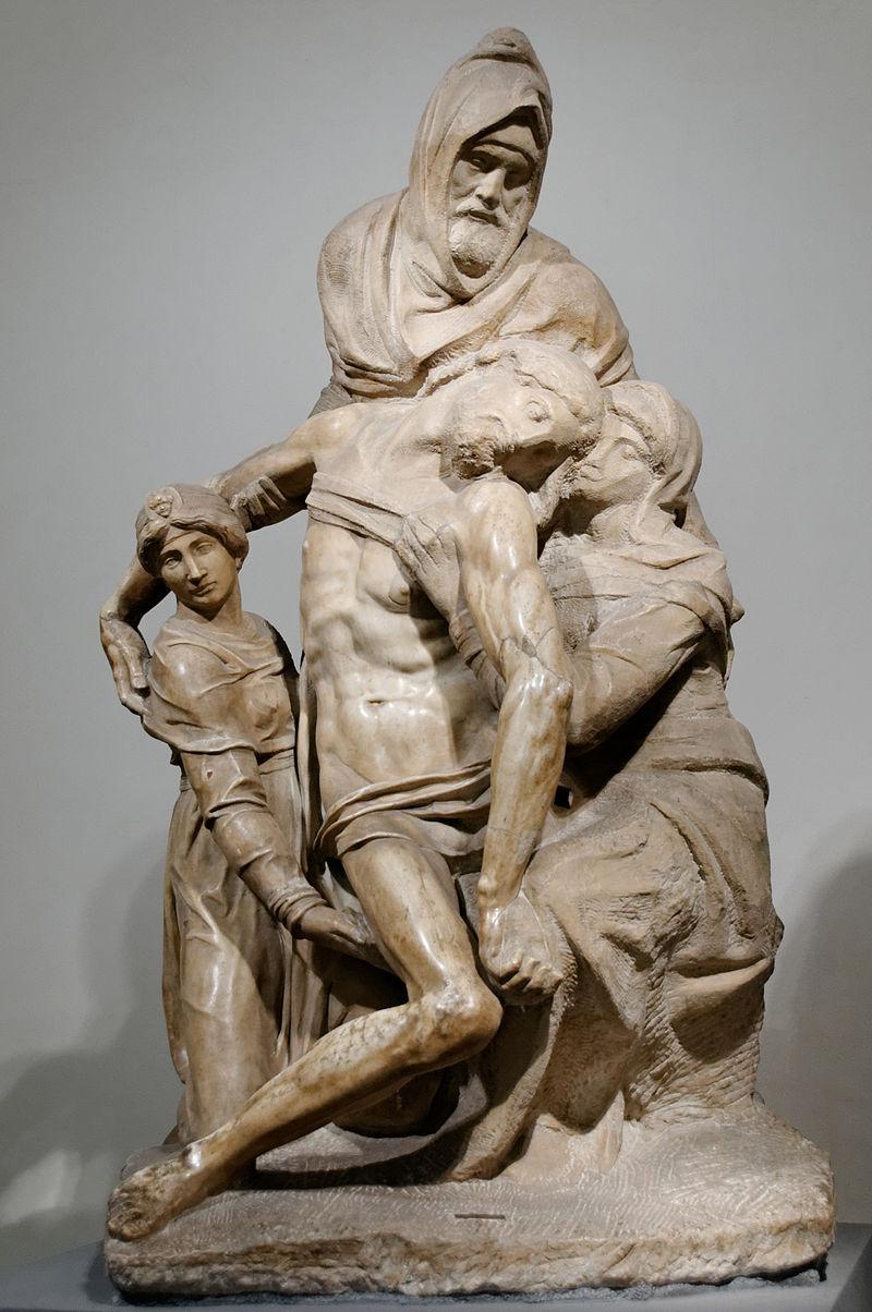 Michelangelo, Bandini Pietà, c. 1547-1553, Museo dell'Opera del Duomo, Florence, Italy.