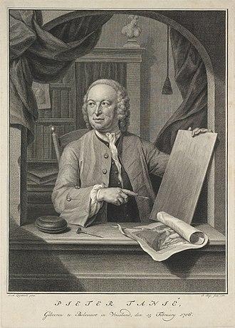 Pieter Tanjé - Self portrait (1760)