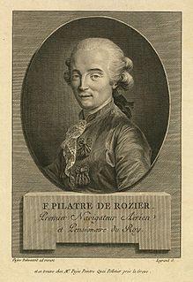 Jean-François Pilâtre de Rozier French pioneer balloonist