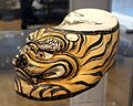 Pillow in tiger form with underglaze painted decoration, China, Jin dynasty, c. 1150-1234, slipped stoneware - Royal Ontario Museum - DSC04253.JPG