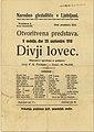 Plakat za predstavo Divji lovec v Narodnem gledališču 1919.jpg