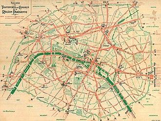 Plan Des Transports En Commun De La Ville De Bordeaux