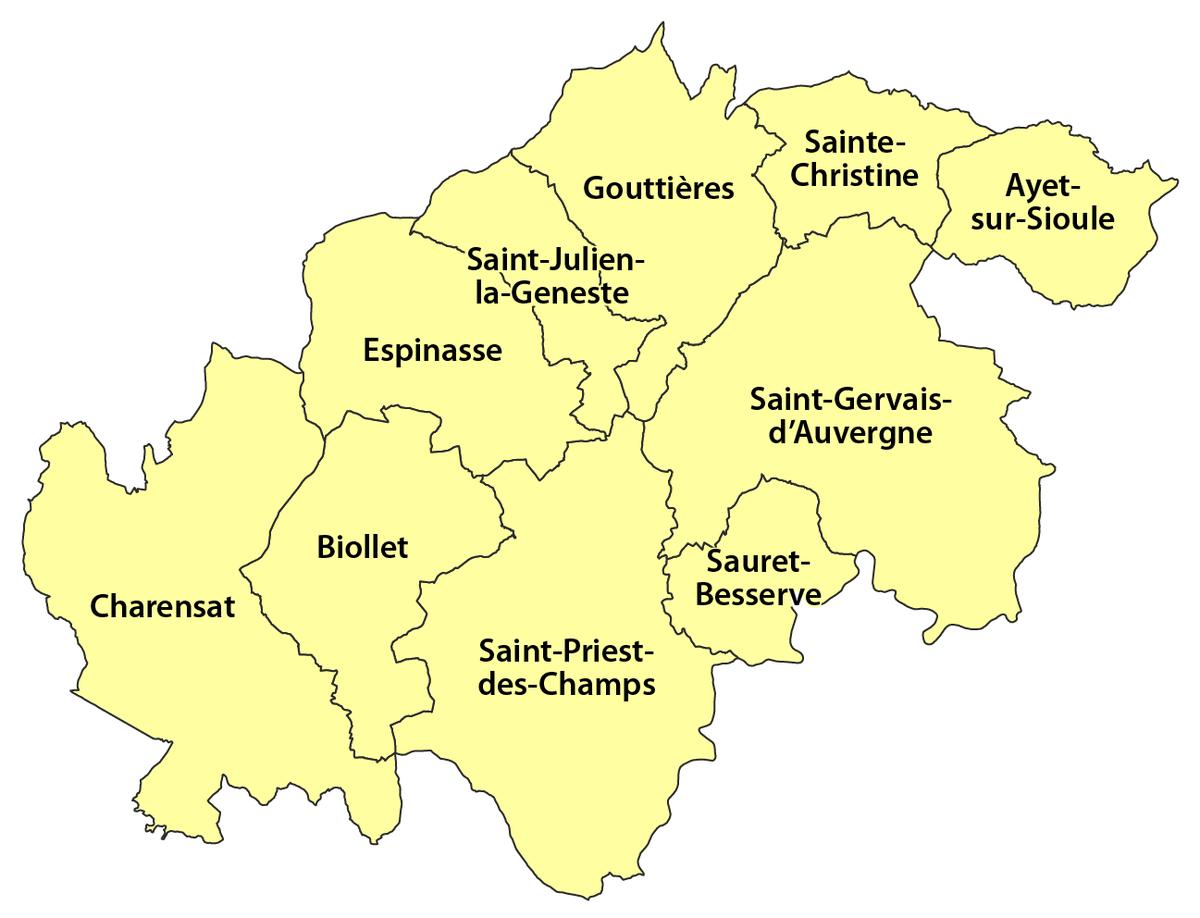 Canton de saint gervais d 39 auvergne wikip dia - Office du tourisme de saint gervais ...