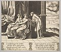 Plate 12- Psyche's sisters persuade her a serpent is sleeping with her, from 'The Fable of Psyche' MET DP824800.jpg
