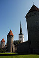 Plate Tower of Tallinn City Wall, St. Olaf's Church (Oleviste kirik), Stolting Tower. Tallin, Estonia, Northern Europe.jpg