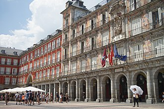 Plaza Mayor, Madrid - Plaza Mayor with the Casa de la Panadería to the right