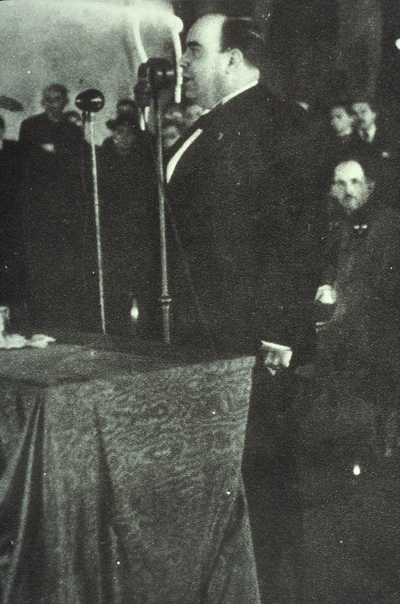 Plinio Corrêa de Oliveira profere discurso no Congresso Eucarístico de São Paulo.jpg