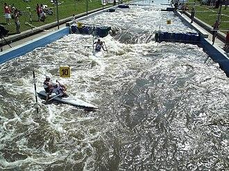 Kraków-Kolna Canoe Slalom Course - Image: Podczas zawodów (9212195217)