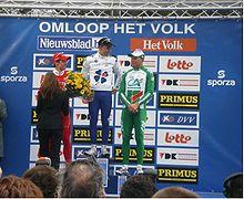 Nel 2008 Thor Hushovd sale sul terzo gradino del podio all'Omloop Het Volk, corsa che vincerà l'anno successivo.