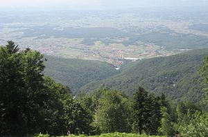 Croatia proper - A view of Hrvatsko Zagorje from Medvednica mountain