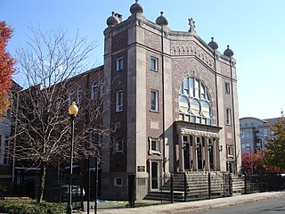historic synagogue at 145 Neilson Street in New Brunswick, New Jersey