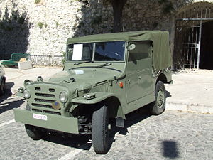 History of the Italian State Police - A FIAT Campagnola, the vehicle that replaced the American jeep, beyond the obvious urban use, was used by the Celere riot police and many other departments.