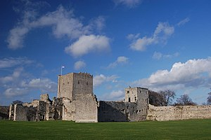 Portchester Castle - Portchester Castle, view of the inner bailey