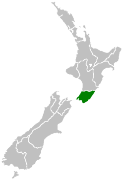 Location of Wellington Region (Greater Wellington)