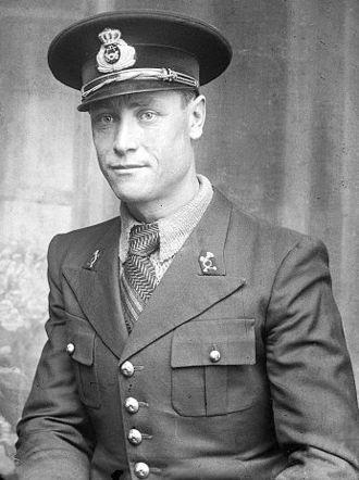 Poșta Română - Post Office clerk wearing a uniform circa 1931-1941