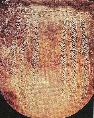 Djibouti - Geometric design pottery found in Asa Koma.