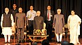 Pranab Mukherjee, the Vice President, Shri M. Hamid Ansari, the President-elect, Shri Ram Nath Kovind and the Prime Minister.jpg