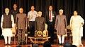 Pranab Mukherjee, the Vice President, Shri M. Hamid Ansari, the President-elect, Shri Ram Nath Kovind and the Prime Minister.jpg