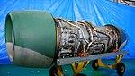 Pratt & Whitney JT8D-9 turbofan engine left front view at JASDF Iruma Air Base November 3, 2014.jpg