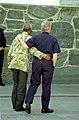 President Bill Clinton walks with President Nelson Mandela on Robben Island.jpg