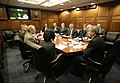 President George W. Bush meets with his National Security team in the White House Situation Room.jpg