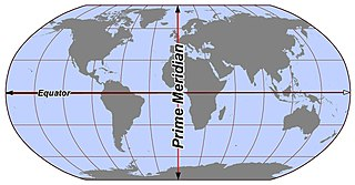 Meridian (geography) line between the poles with the same longitude